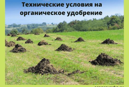 Технические условия на органическое удобрение