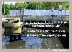 Использование осадков сточных вод в качестве удобрения