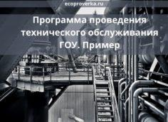 Программа проведения технического обслуживания ГОУ. Пример