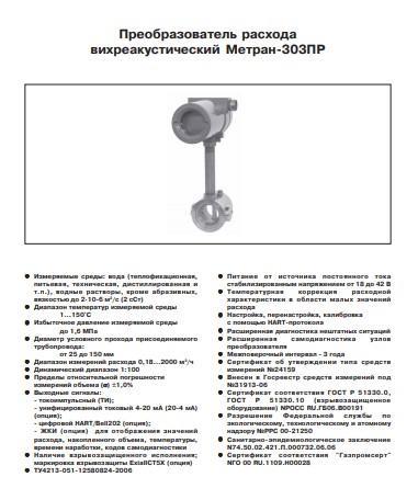 Расходомер Метран-303ПР
