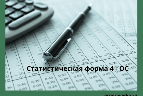 Статистическая форма 4 - ОС