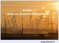 выброс меньше предела обнаружения